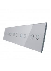 Pięciokrotny panel szklany LIVOLO 7012222 | Szary