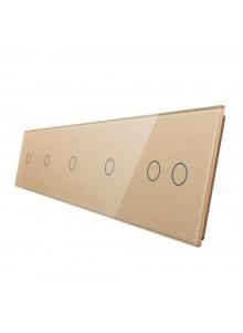 Pięciokrotny panel szklany LIVOLO 7011112| Szampański