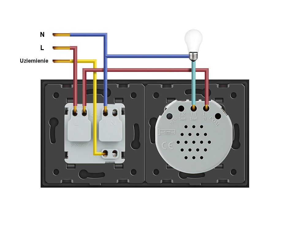 Livolo schemat podłączenia włącznika dotykowego